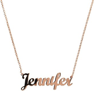 Veronese 18K Clad Personalized Polished NameNecklace