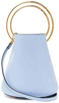 Marni Pannier Small Leather Bucket Bag - Womens - Light Blue