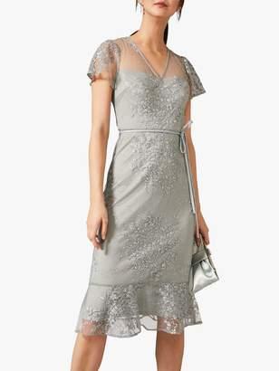 Studio 8 Juliana Embroidered Mini Dress, Eau De Nil