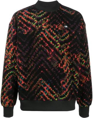 The North Face Logo-Patch Tie-Dye Print Sweatshirt
