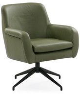 Umran Swivel Armchair Ebern Designs Fabric: Olive