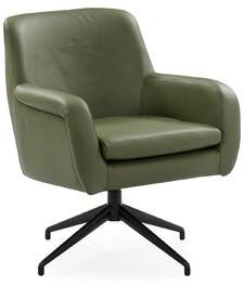 Ebern Designs Umran Swivel Armchair Fabric: Olive
