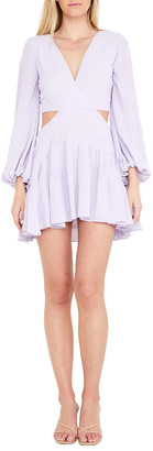 Bardot Mini Cutout Frill Dress