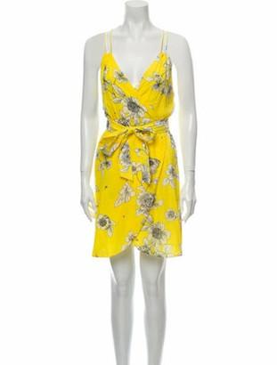 Alice + Olivia Floral Print Mini Dress w/ Tags Yellow