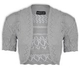 JanisRamone New Womens Ladies Crochet Knitted Bolero Shrug Short Cap Sleeve Crop CardiganTop