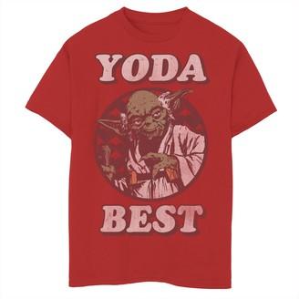 Star Wars Boys 8-20 Yoda Best Vintage Valentine's Tee