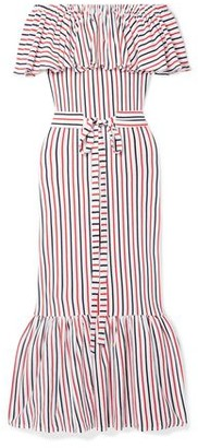 MDS Stripes 3/4 length dress