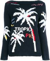 Ermanno Scervino knitted palm tree jumper