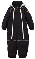 Mini Rodini Black Panda Hooded Snowsuit