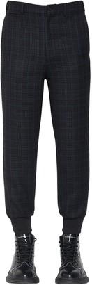 Alexander McQueen Check Virgin Wool Blend Pants