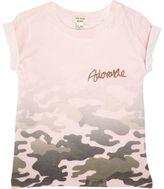 River Island Mini girls pink faded camo print T-shirt