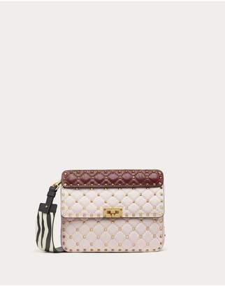 Valentino Garavani Medium Rockstud Spike.It Nappa Bag With Zebra Print Strap