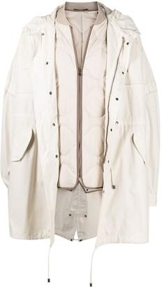 Mr & Mrs Italy Layered Parka Coat