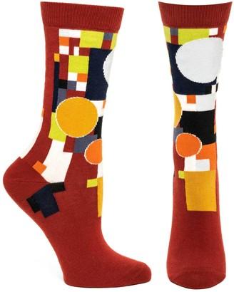 Ozone Womens Frank Lloyd Wright Coonley Playhouse Sock-Red OSFM