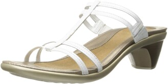 Naot Footwear Women's Loop Slide Sandal Gray Lizard Lthr 4 M US