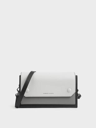 Charles & Keith Two-Tone Mini Clutch Bag