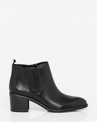 Le Château Leather Pointy Toe Ankle Boot