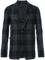 Rick Owens checked blazer - men - Cotton/Polyamide/Cupro/Virgin Wool - 50