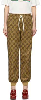 Gucci Brown GG Supreme Drawstring Lounge Pants