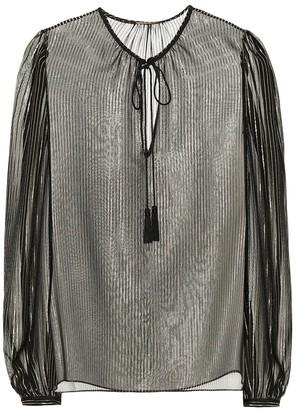 Saint Laurent Metallic silk blouse