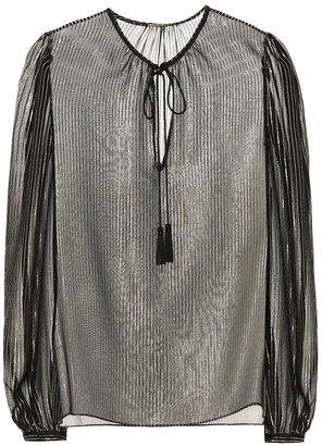 Saint Laurent Metallic silk blouse