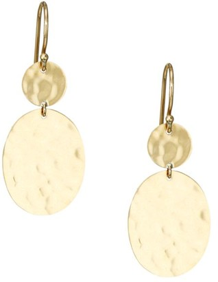 Ippolita Classico 18K Yellow Gold Crinkle Snowman Drop Earrings