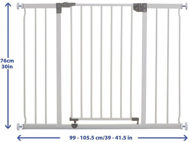 Thumbnail for your product : Dream Baby Dreambaby Liberty Xtra Wide Hallway Gate (99-105.5Cm) - White/Metal