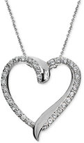 Giani Bernini Cubic Zirconia Heart Pendant Necklace in Sterling Silver, Only at Macy's