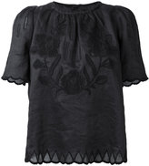 Isabel Marant floral embroidered top - women - Ramie/Polyester - 36