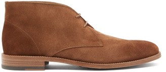 Tod's Polacco Suede Desert Boots - Mens - Brown