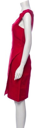 J. Mendel Scoop Neck Knee-Length Dress Red
