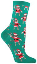 Socksmith Women's Santa Monkey Crew Socks