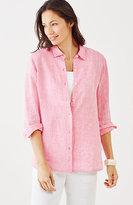 J. Jill Yarn-Dyed Linen Big Shirt