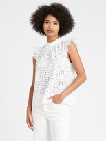 NEW! Unlined Eyelet Top