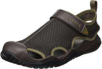 Crocs Men's Swiftwater Mesh Deck Sandal M Closed Toe