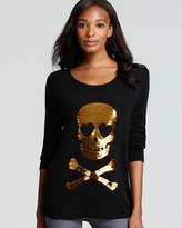 Wildfox Couture Sweater - Love Skull Sequin