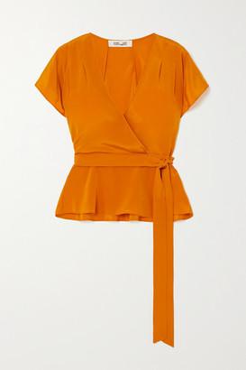 Diane von Furstenberg Kelsey Silk Crepe De Chine Wrap Top