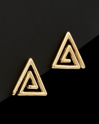 Italian Gold 14K Triangle Swirl Studs
