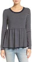 Hinge Stripe Peplum Sweater