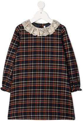 Bonpoint Lace Collar Cashmere Dress