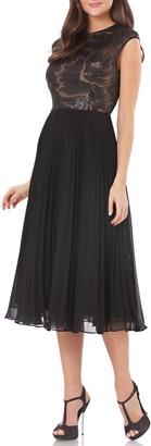 Carmen Marc Valvo Pleated Skirt