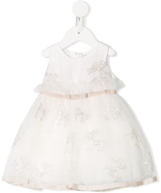 MonnaLisa Embroidered Bow Dress
