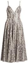 MSGM Python-Print Pleated Dress