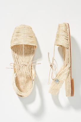 Ball Pagès Raffia Slingback Sandals By in Beige Size 38