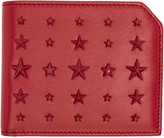 Jimmy Choo Red Mixed Stars Albany Wallet
