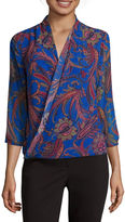 Liz Claiborne 3/4-Sleeve Wrap Top - Tall