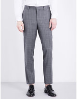 The Kooples Checked Slim-fit Tapered Wool Trousers