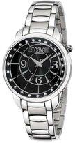Just Cavalli Women's R7253178525 Trendy Silver-Toner/Black Stainless Steel Watch
