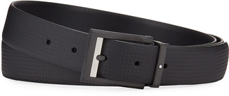 Montblanc Men's Printed Leather Rectangle-Buckle Belt