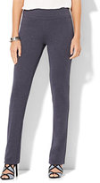 New York & Co. 7th Avenue Design Studio - Straight-Leg Pull-On Pant - Signature - Universal Fit - Grand Sapphire - Ponte - Tall